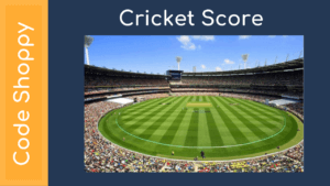 Cricket Score App android