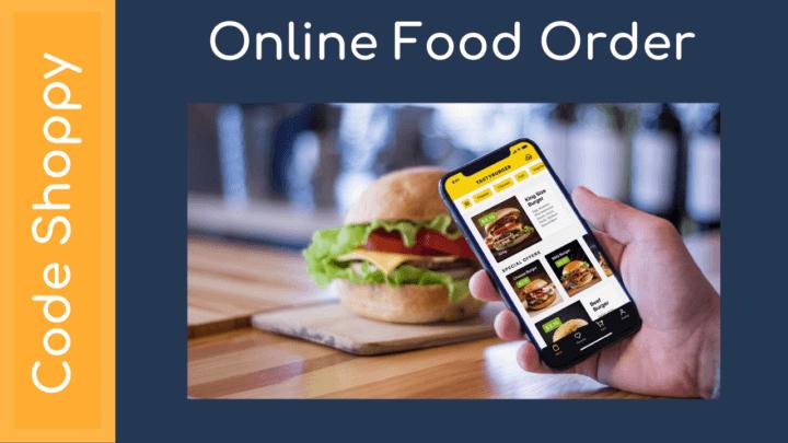 Online Food Order System - Dotnet C# Projects - Code Shoppy